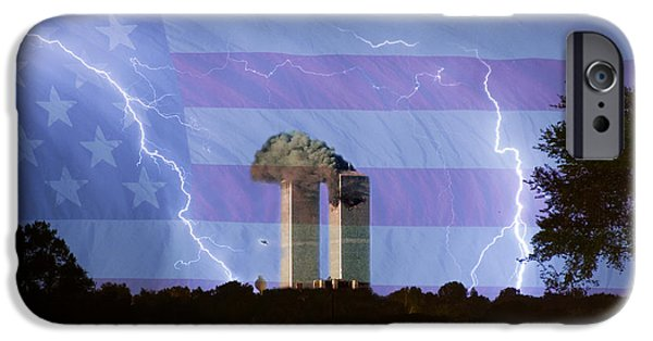 Lightning Bolts iPhone Cases - 9-11 We Will Never Forget 2011 Poster iPhone Case by James BO  Insogna
