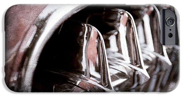 Jill Reger Photography iPhone Cases - 1957 Chevrolet Corvette Grille iPhone Case by Jill Reger