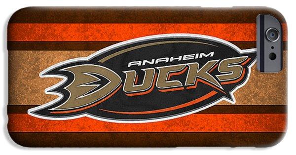 Ducks iPhone Cases - Anaheim Ducks iPhone Case by Joe Hamilton