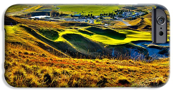 Us Open Photographs iPhone Cases - #9 at Chambers Bay Golf Course - Location of the 2015 U.S. Open Tournament iPhone Case by David Patterson