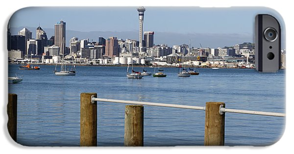 Buildings iPhone Cases - Auckland iPhone Case by Les Cunliffe