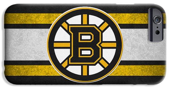 Santa iPhone Cases - Boston Bruins iPhone Case by Joe Hamilton