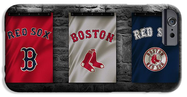 World Series iPhone Cases - Boston Red Sox iPhone Case by Joe Hamilton