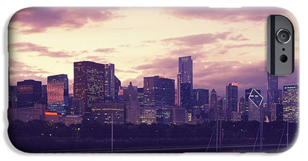 Willis Tower iPhone Cases - Buildings At The Waterfront, Lake iPhone Case by Panoramic Images