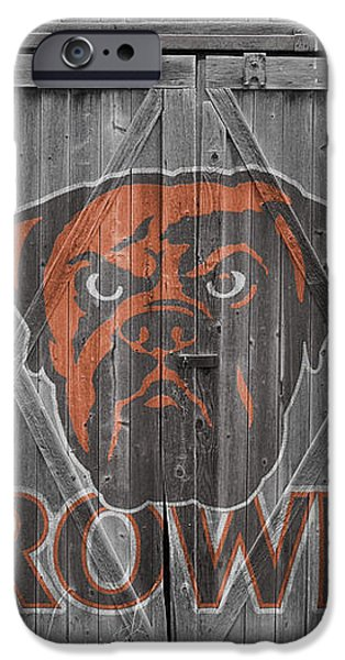 CLEVELAND BROWNS iPhone Case by Joe Hamilton