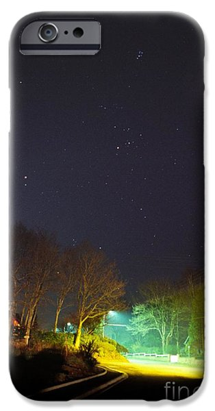 Night Lamp iPhone Cases - Constellations iPhone Case by Laurent Laveder