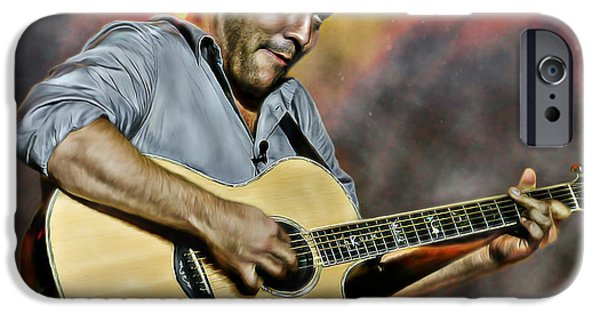 Epiphone Guitar iPhone Cases - Dave Matthews Band iPhone Case by Don Olea