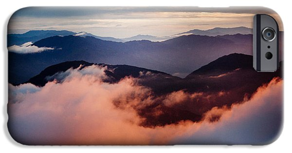 Freedom iPhone Cases - Golden Sunset Himalayas Mountain Nepal iPhone Case by Raimond Klavins