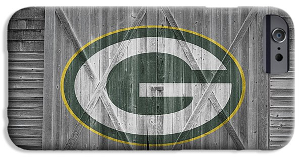 Barns iPhone Cases - Green Bay Packers iPhone Case by Joe Hamilton