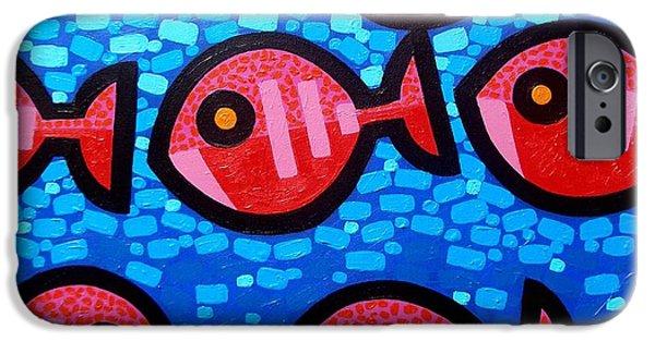 Marine iPhone Cases - 9 Happy Fish iPhone Case by John  Nolan