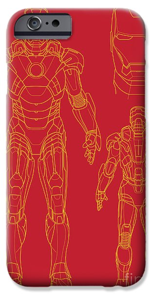 Iron Man iPhone Case by Caio Caldas