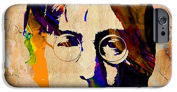 John iPhone Cases - John Lennon Painting iPhone Case by Marvin Blaine
