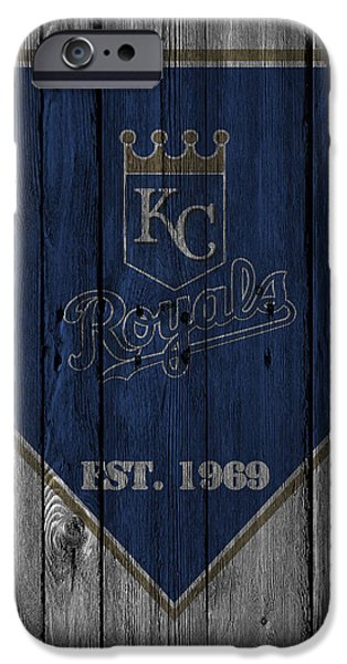 Barns iPhone Cases - Kansas City Royals iPhone Case by Joe Hamilton