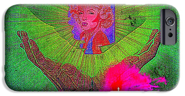 Etc. Digital Art iPhone Cases - Marilyn  iPhone Case by HollyWood Creation By linda zanini