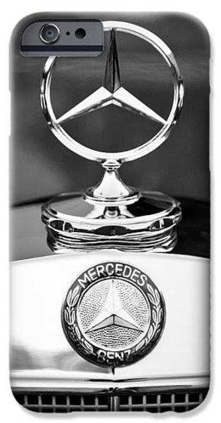 Antique Cars iPhone Cases - Mercedes-Benz Hood Ornament iPhone Case by Jill Reger