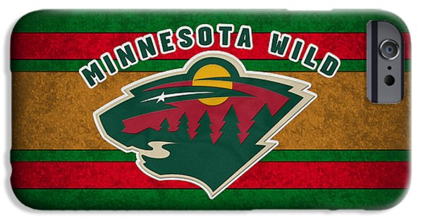 Minnesota iPhone Cases - Minnesota Wild iPhone Case by Joe Hamilton