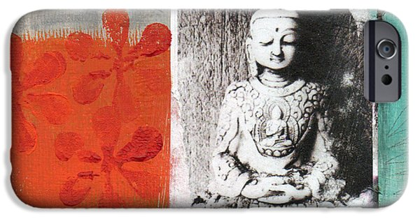 Wall Mixed Media iPhone Cases - Namaste iPhone Case by Linda Woods