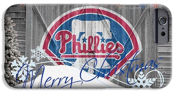 Phillies iPhone Cases - Philadelphia Phillies iPhone Case by Joe Hamilton