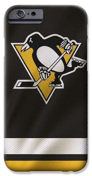 Skates iPhone Cases - Pittsburgh Penguins iPhone Case by Joe Hamilton