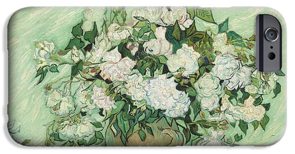 Mango Paintings iPhone Cases - Roses iPhone Case by Vincent van Gogh