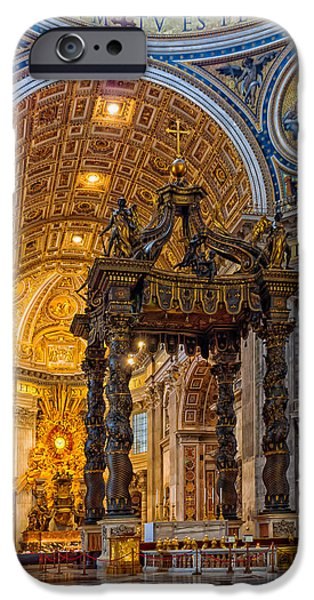 Religious Icon iPhone Cases - Saint Peters Basilica  iPhone Case by Mountain Dreams