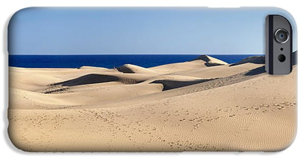 SAHARA iPhone Cases - Sand Dunes In A Desert, Maspalomas iPhone Case by Panoramic Images