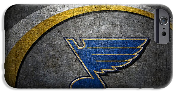 Arena iPhone Cases - St Louis Blues iPhone Case by Joe Hamilton