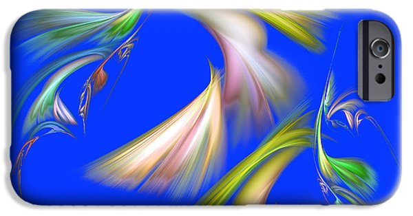 Action Lines Digital iPhone Cases - Symmetrical lines and lights figures iPhone Case by Odon Czintos