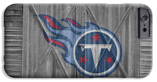 Tennessee Barn iPhone Cases - Tennessee Titans iPhone Case by Joe Hamilton