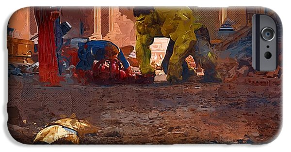 Fury iPhone Cases - The Avengers Art iPhone Case by Victor Gladkiy