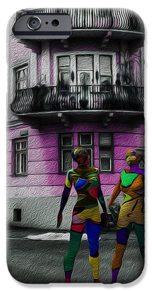 Buildings Mixed Media iPhone Cases - The Future Of Psychedelic Society iPhone Case by Sir Josef Putsche