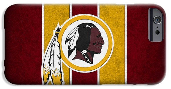 Balls Photographs iPhone Cases - Washington Redskins iPhone Case by Joe Hamilton