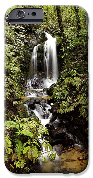 Environment Photographs iPhone Cases - Waterfall iPhone Case by Les Cunliffe