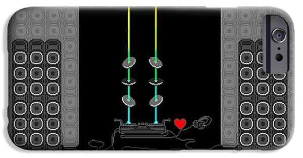 Recently Sold -  - Electronic iPhone Cases - 9000 Stack Vinyl Music iPhone Case by Charles Drummond