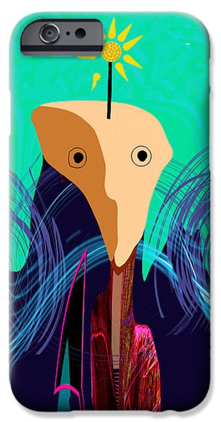 Wall Greeting Cards Digital iPhone Cases - 904 -   Stone Face  iPhone Case by Irmgard Schoendorf Welch