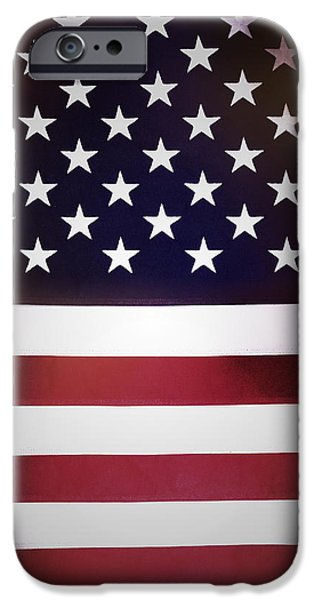 Patriotism iPhone Cases - American flag iPhone Case by Les Cunliffe