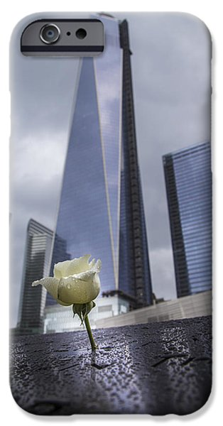 Twin Towers Nyc iPhone Cases - 911 Memorial  iPhone Case by John McGraw