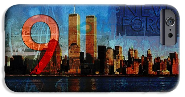 Terrorism iPhone Cases - 911 Never Forget iPhone Case by Anita Burgermeister