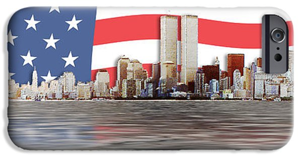 Twin Towers Nyc Digital iPhone Cases - 911 iPhone Case by Stacy Whiting