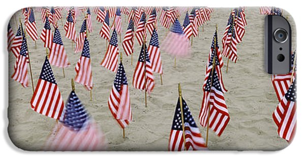 American Flag iPhone Cases - 911 Tribute Flags, Pepperdine iPhone Case by Panoramic Images