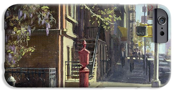 Fire Hydrant iPhone Cases - 91st Street At Lexington Avenue Oil On Canvas iPhone Case by Julian Barrow