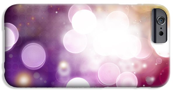 Purple Images iPhone Cases - Abstract background iPhone Case by Les Cunliffe