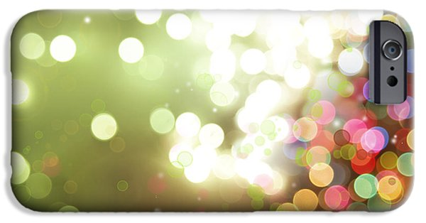 Twinkle iPhone Cases - Abstract background iPhone Case by Les Cunliffe