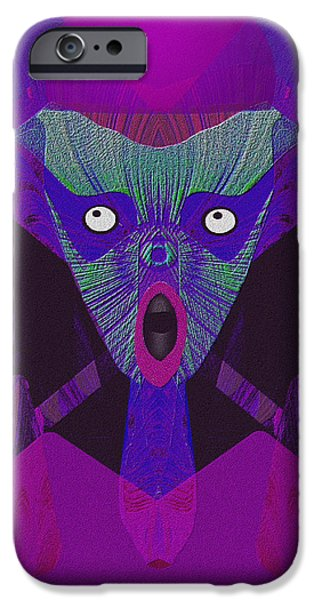 The Blue Face iPhone Cases - 948 - The  Howling  ... iPhone Case by Irmgard Schoendorf Welch