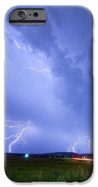95th and Woodland Lightning Thunderstorm View iPhone Case by James BO  Insogna