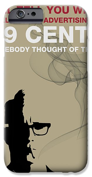 Advice iPhone Cases - 99 Cents by Roger Sterling iPhone Case by Florian Rodarte