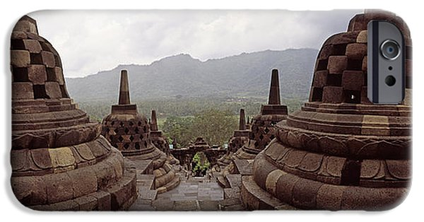 Buddhist iPhone Cases - 9th Century Buddhist Temple Borobudur iPhone Case by Panoramic Images