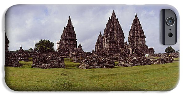 Civilization iPhone Cases - 9th Century Hindu Temple Prambanan iPhone Case by Panoramic Images