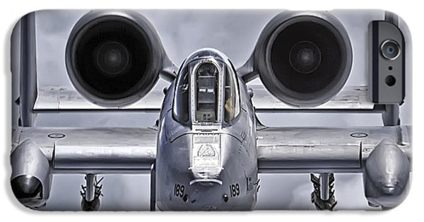 Aeronautics iPhone Cases - A-10 Thunderbolt II iPhone Case by Adam Romanowicz