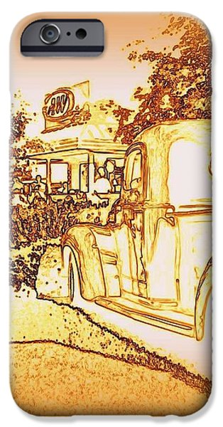 A and W Drive In iPhone Case by Bobbee Rickard
